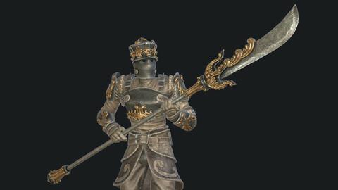 Fantasy Knight with Halberd