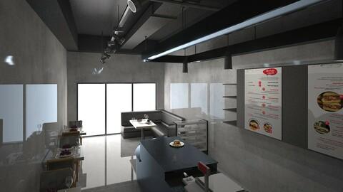 Black  Cafe Interior Full 3D