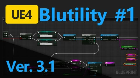 UE4 Editor Utility Blueprint for renaming multiple files