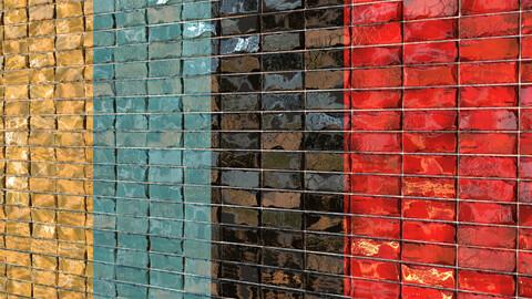 Teal Tile 14- PBR Material- 4Color
