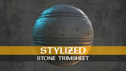 Stylized Stone Trim Sheet