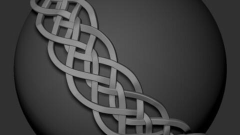 Basic Celtic Knot Curve Brush