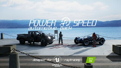 POWER & SPEED  AUTOMOTIVE PACK  /  UNREAL ENGINE