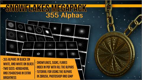 Snowflakes Megapack 355 Alphas