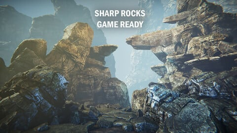 Sharp rocks