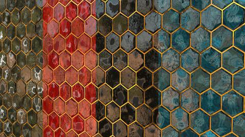 Teal Tile 16- PBR Material- 4Color
