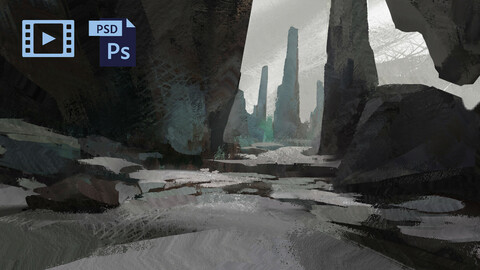 PSD + Video Process Fantasy Environment