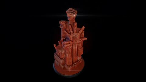 Hand statue photogrammetry 3d model