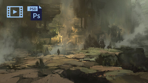 Video Process + PSD Fantasy Environment