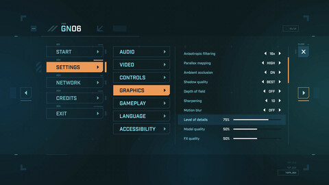 FUI / UI - Sci-fi Game Menu Template