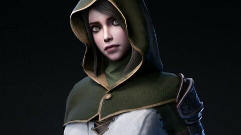 Swordsman Girl - Game Ready