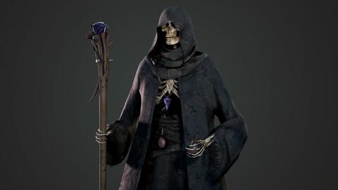 Skeleton Mage - Game Ready