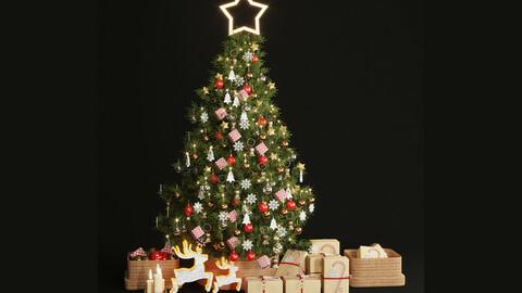 christmas tree decor set