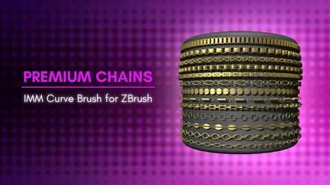 [IMM Brush] Premium Chains Curve Brush for ZBrush 2021