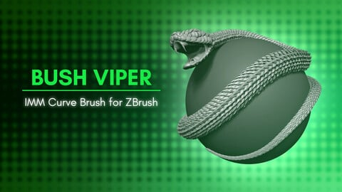 [IMM Brush] Bush Viper Snake Brush for ZBrush 2020