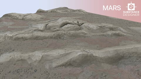 MARS ROCK PBR MATERIAL 4K