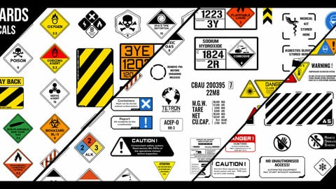 Kenzors Freight And Hazard Decals VOL 1