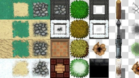 ground   grass tileset for rpg makeeeer mv mz