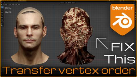 Transfer Vertex Order | Blender Add-on