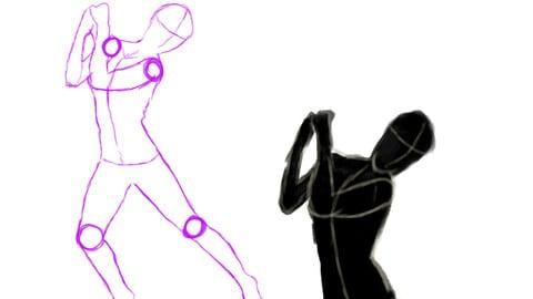 Linear Gesture drawings