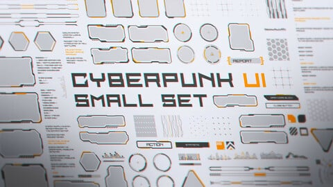 Cyberpunk UI Small Set