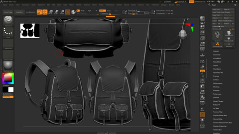 backpack with interior