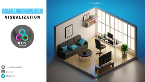 3d Isometric Architectural visualization