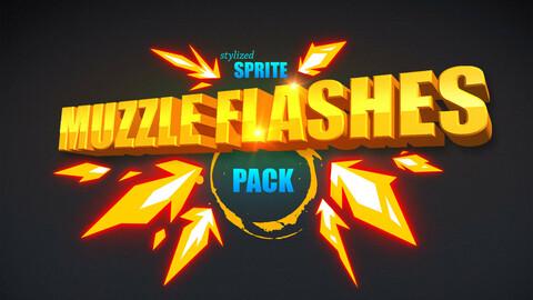 Sprite muzzle flashes