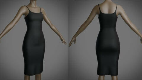 3D Female bodycon dress - sleeveless bodycon