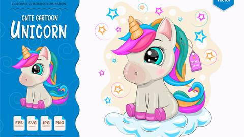 Cartoon little Unicorn