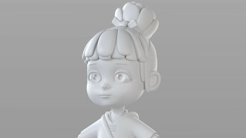 Cartoon Villager Girl