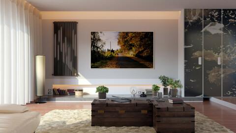 Kira's Living Room 3D scene (.fbx - .blend)
