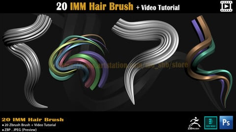 20 IMM Hair Brush + Video Tutorial