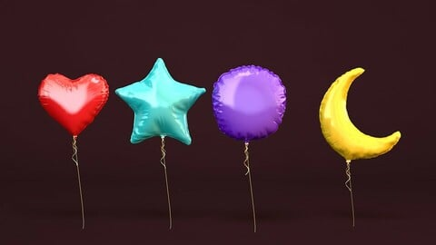 Shaped Foil Balloons 3D model