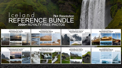 Reference Bundle - Iceland - 2000+ Royalty Free Photos