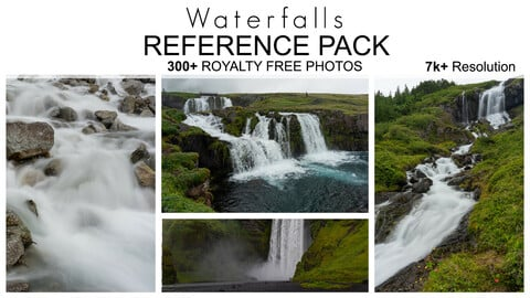 Reference Pack - Waterfalls - 300+ Royalty Free Photos