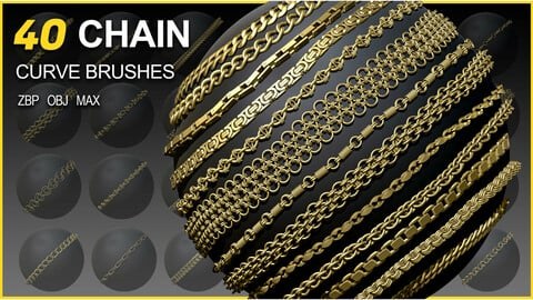40 Chain Curve Brushes