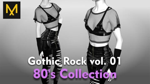 Gothic Rock Outfit vol.01 - 80's Collection