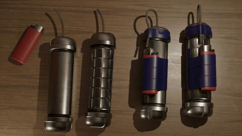 Improvised pipe bomb bundle