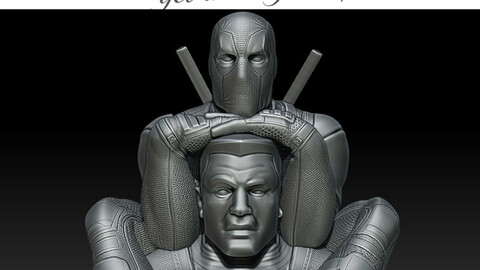 Colossus & Deadpool combo 3D print model STL Digital Files
