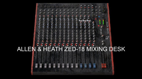 Allen & Heath ZED-18 Worn, Aged USB Mixing Desk