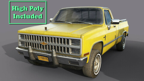 Chevrolet C10 1982 Yellow  Game Ready