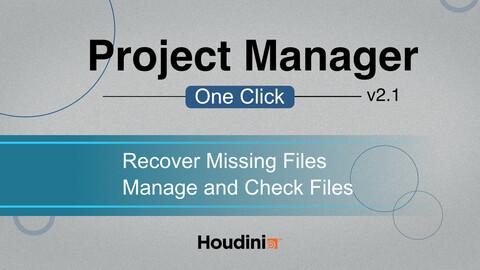 Houdini Tool | ProjectManager_v2_1 | VFX Grace