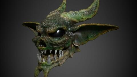 Evil Head - low poly