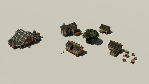Medieval City Buildings