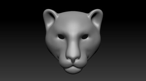 Panther head base mesh
