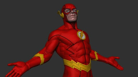 The Flash - 3D print 35 CM / 13,78  INCH