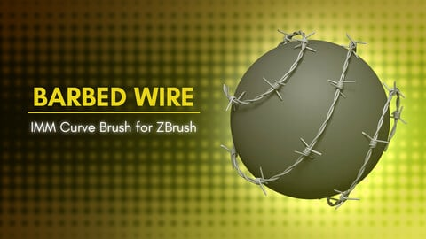 [IMM Brush] Barbed Wire Brush for Zbrush 2020