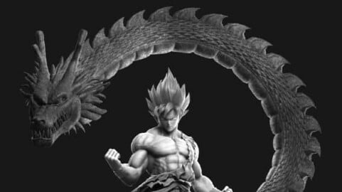 Goku 3D Printing Model - STL Digital Files - Special Edition