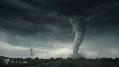 Houdini Hip File | Pyro Tornado | VFX Grace